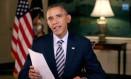 Barack Obama, em pronunciamento publicado na internet Foto: Reprodução da internet