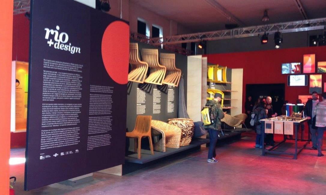 A Rio + Design Milão 2013, ocorrida em abril, levou peças de 27 designers do estado para a Itália Foto: Divulgação