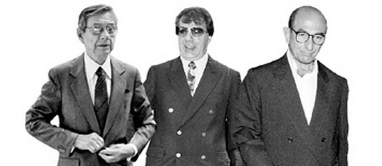 Da esquerda para a direita: Castor de Andrade, Capitão Guimarães e Anísio Abraão Foto: .