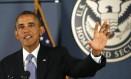 Impasse. Obama ressalta a perda de serviços público em consequência da paralisação do governo em discurso na Federal Emergency Management Agency (Fema, Agência Federal de Gestão de Emergências, em tradução livre) Foto: KEVIN LAMARQUE / REUTERS