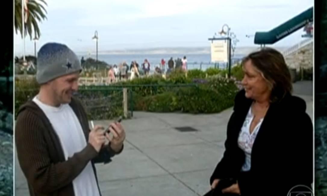 O americano Jeremy e Giselda em foto tirada nos Estados Unidos Foto: Reprodução da internet