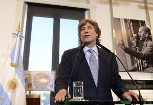 Amado Boudou em evento na Casa Rosada nesta segunda-feira Foto: Divulgação / REUTERS