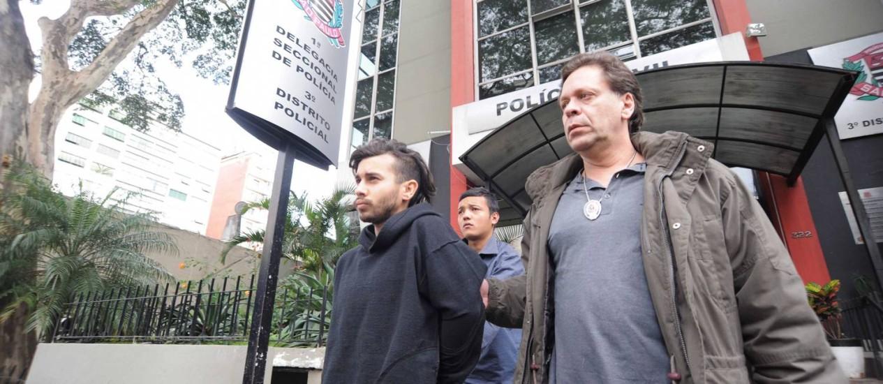 Humberto Caporalli foi detido em protesto em SP e indiciado na Lei de Segurança Nacional Foto: Adriano Lima/ Brazil Photo Press