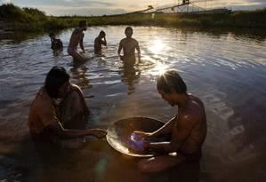 Garimpeiros correm risco de contaminação por mercúrio Foto: Latinstock