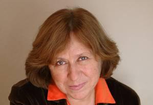 Svetlana Alexievich em foto de 2009 Foto: MARGARITA KABAKOVA / AFP