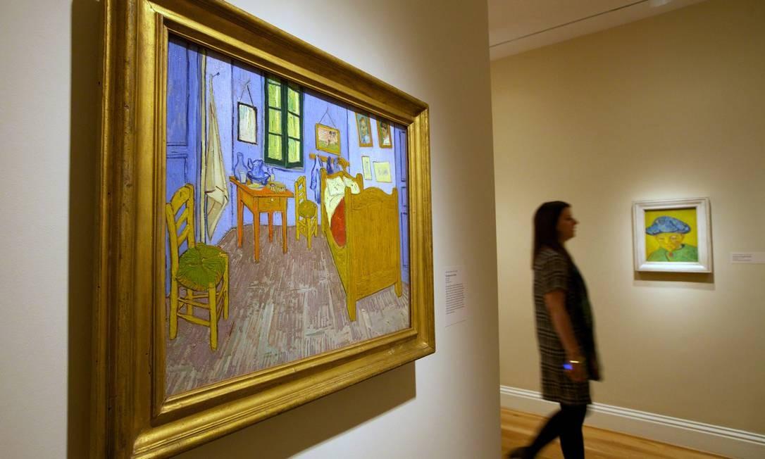"""""""O quarto em Arles"""", tela de Vincent van Gogh, na The Phillips Collection. Essa é a primeira mostra do pintor em Washington em 15 anos Foto: Molly Riley / AP"""