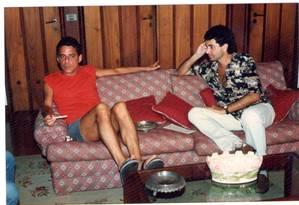 Chico Buarque e Paulo Cesar de Araújo Foto: Arquivo pessoal