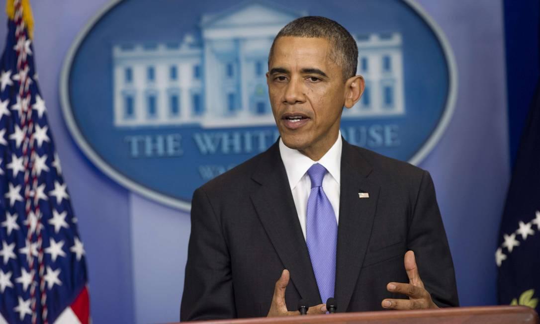 Obama fez pronunciamento após Senado aprovar elevação do teto da dívida Foto: SAUL LOEB / AFP