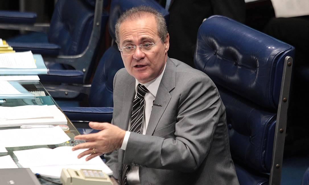 O senador Renan Calheiros, presidente do Senado Foto: André Coelho / Arquivo O Globo