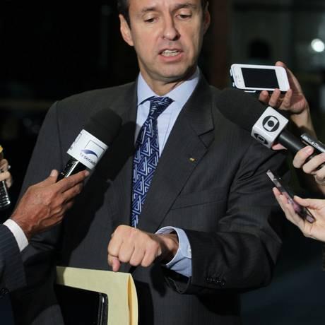 O ex-presidente da Bolívia Jorge Quiroga fala sobre seu apoio ao senador Roger Pinto Molina, que pediu refúgio ao Brasil Foto: Ailton de Freitas/O Globo