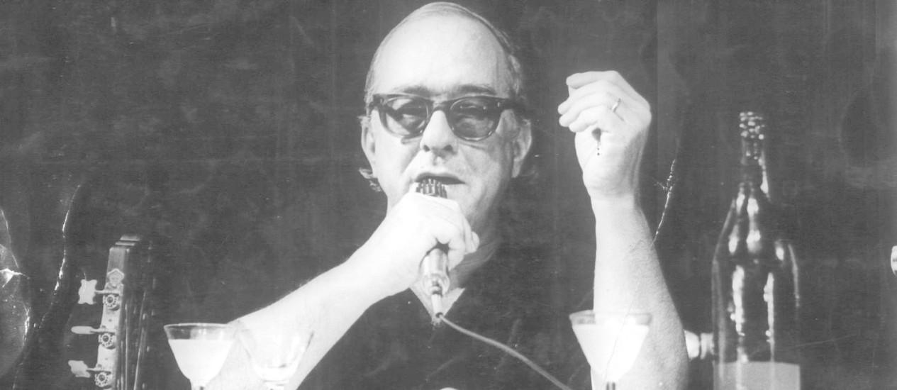 Poetinha. Nascido em 1913, Vinicius fez contribuições imensuráveis à cultura brasileira Foto: Agência O Globo / Arquivo