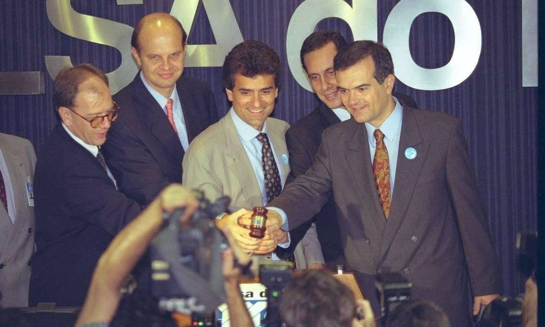 Bancos. Em 1997, o Bannerj é vendido ao Itaú, em leilão realizado na Bolsa de Valores do Rio de Janeiro Foto: Terceiro / Agência O Globo