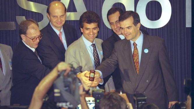 Bancos. Em 1997, o Banerj é vendido ao Itaú, em leilão realizado na Bolsa de Valores do Rio de Janeiro Foto: Terceiro / Agência O Globo