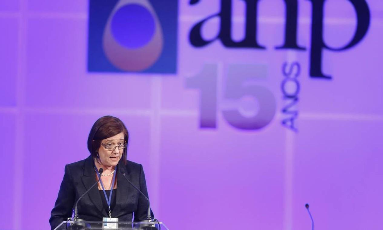 Magda Chambriard, diretora-geral da ANP, afirmou que 'sucesso maior que esse era difícil de imaginar' Foto: Fabio Rossi / Agência O Globo