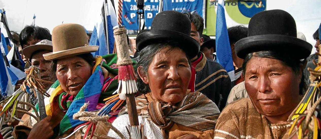 Filme mostra que Evo Morales, primeiro presidente boliviano de origem indígena, eleito por 54% dos votos, passou a encontrar oposição da população nativa Foto: /Divulgação