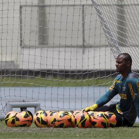 Jéfferson é um trunfo no Botafogo se a disputa for para os pênaltis Foto: Marcos Tristão / Agência O Globo