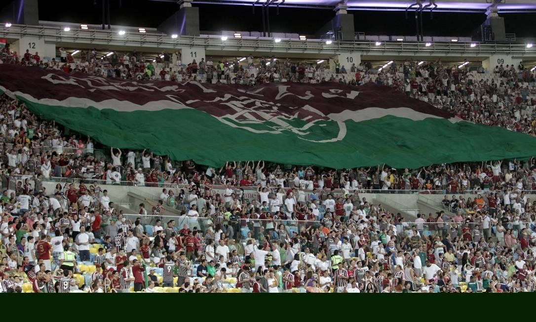 Torcida do Fluminense em um dos jogos do time no Maracanã Foto: Marcelo Theobald / Agência O Globo
