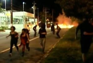 Manifestação em São Paulo teve atos de vandalismo Foto: Reprodução de TV / Globonews