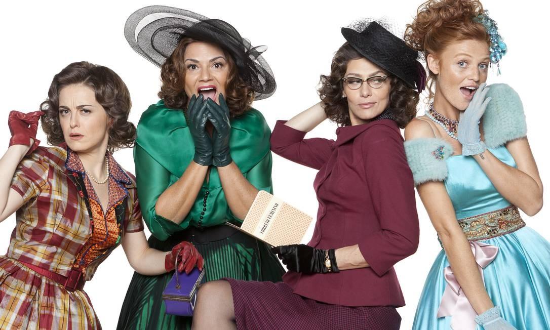 Elenco da série 'Correio feminino': Alessandra Maestrini, Luiza Brunet, Maria Fernanda Cândido e Cintia Dicker Foto: Camilla Maia