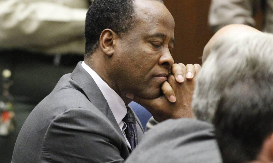 Conrad Murray durante julgamento que o condenou por homicídio culposo Foto: MARIO ANZUONI / AP