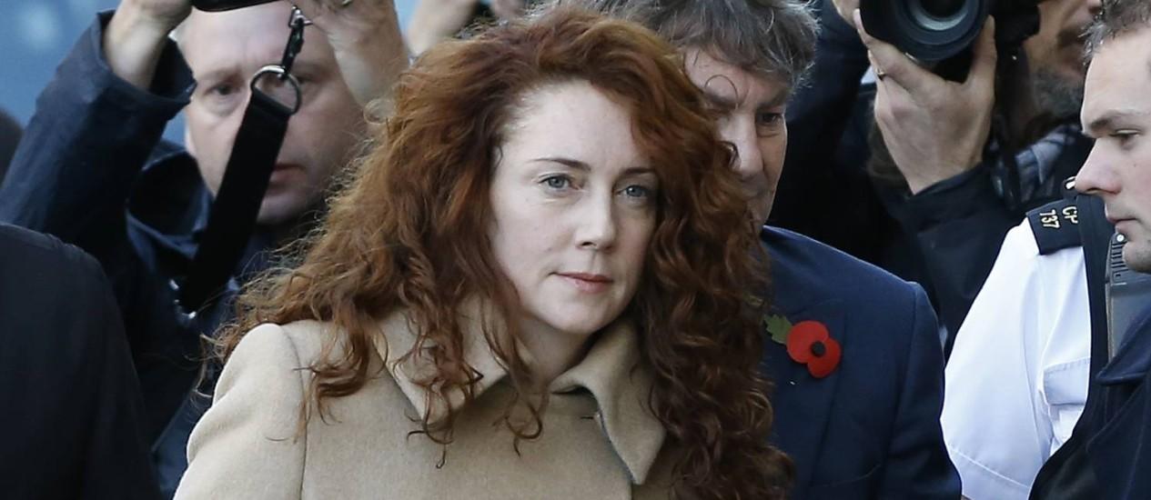 Rebekah Brooks chega ao tribunal em Londres Foto: Kirsty Wigglesworth / AP