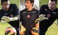 Diogo Silva, Michel Alves e Alessandro. Goleiros não se firmaram no time titular do Vasco na temporada