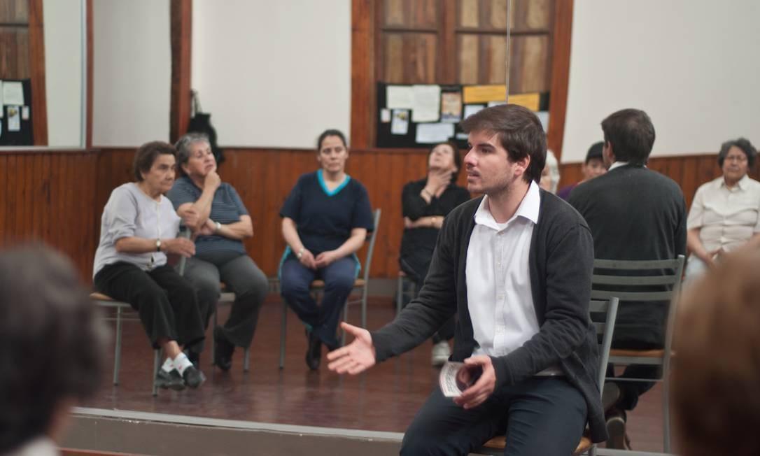 Giorgio Jackson, candidato a deputado por Santigo, foi presidente da Federação de Estudantes da Universidade Católica do Chile (FEUC), onde se formou em engenharia civil Foto: Fernando Ramírez