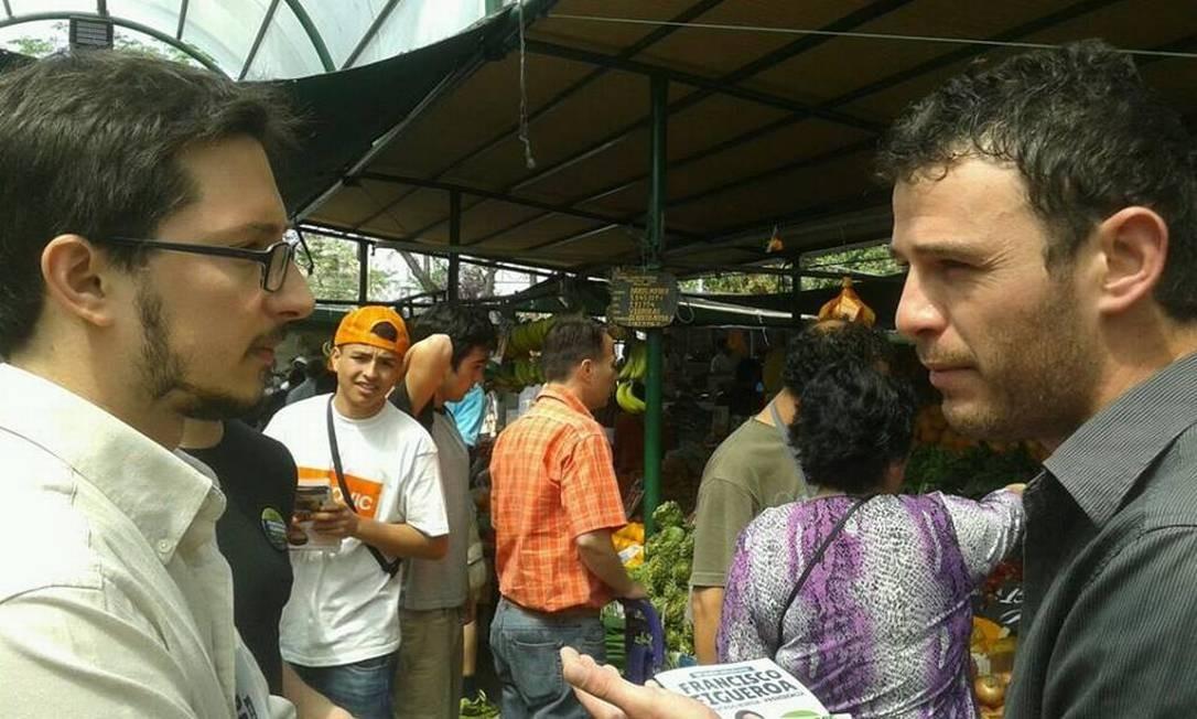 Francisco (Pancho) Figueroa concorre pelo distrito de Ñuñoa e Providencia. Embora se apresente como candidato independente, é apoiado pela coalizão de esquerda Nueva Mayoría, a mesma de Camila Vallejo Foto: Divulgação