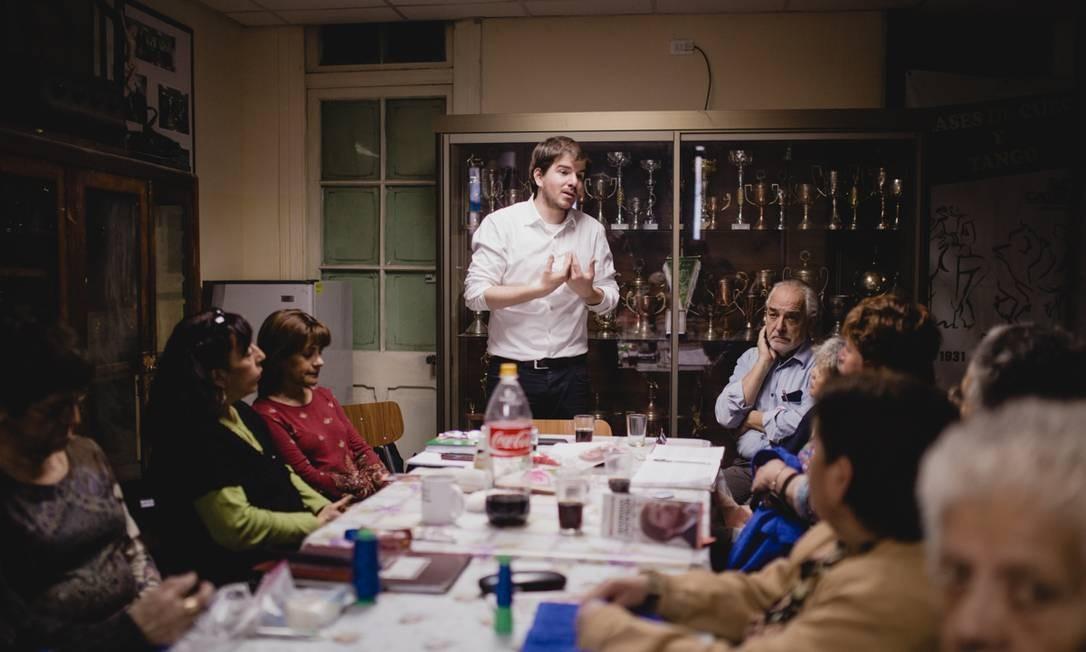 A transparência do financiamento de campanha é uma das bandeiras de Giorgio, que divulga todas as doações que recebe Foto: Fernando Ramírez
