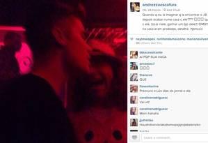 Fã posta foto de Justin Bieber na boate Zax, na Barra Foto: Andrezza Escafura / Instagram