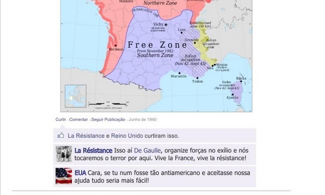 """Organizando a resistência francesa, Charles de Gaulle """"compartilha"""" a foto do movimento """"La Resistance"""" Foto: Reprodução"""