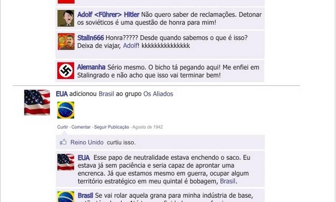 """Após titubear entre Alemanha e Estados Unidos, o Brasil entra no grupo """"Os Aliados"""" no Facebook Foto: Reprodução"""