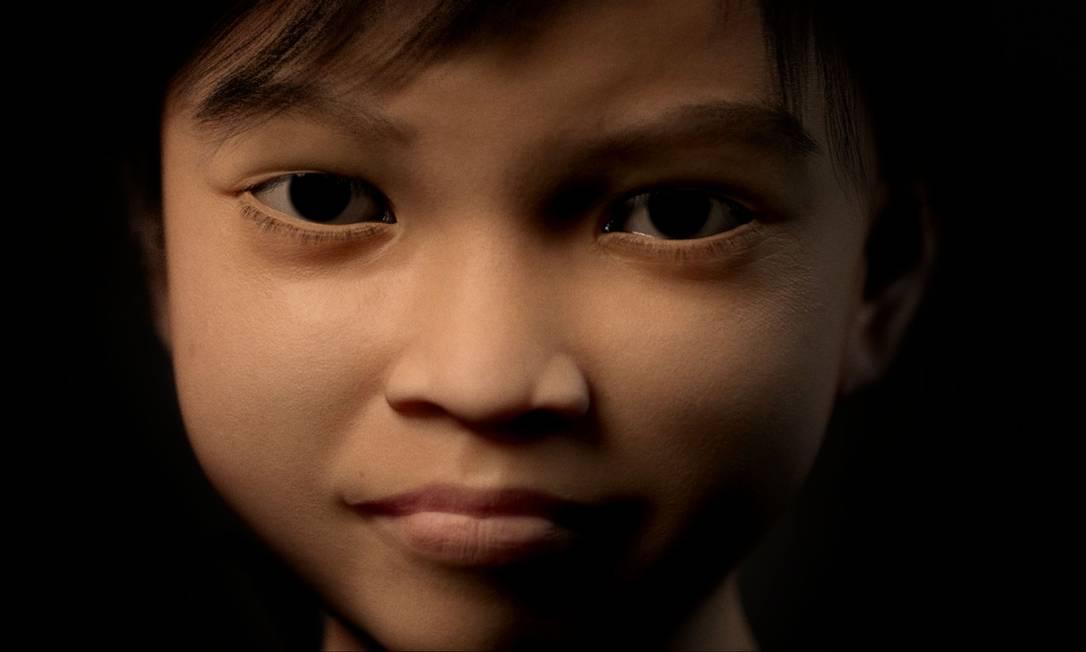 Sweetie, a menina virtual filipina usada para rastrear suspeitos de pedofilia Foto: - / AFP