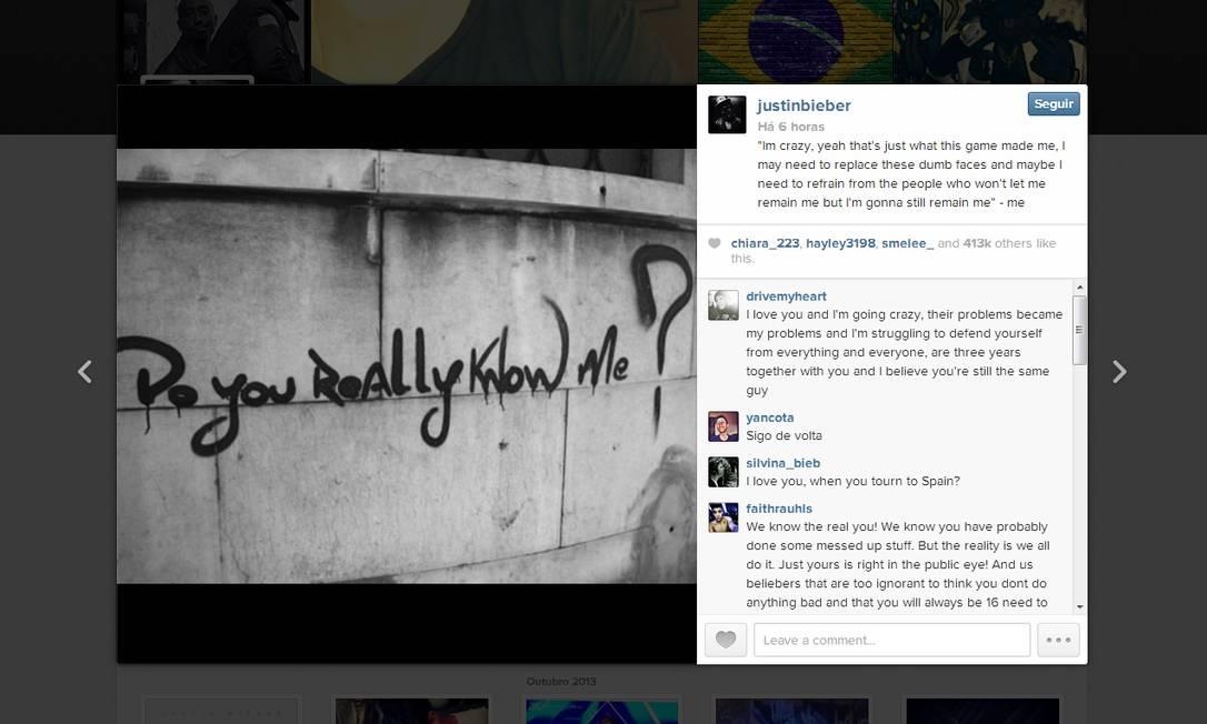 """Astro pop publicou texto ao lado de uma imagem que questiona: """"Você realmenete me conhece?"""" Foto: Reprodução / Instagram"""