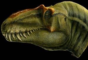 Reprodução artística do tiranossauro Lythronax. Foto: Lukas Panzarin