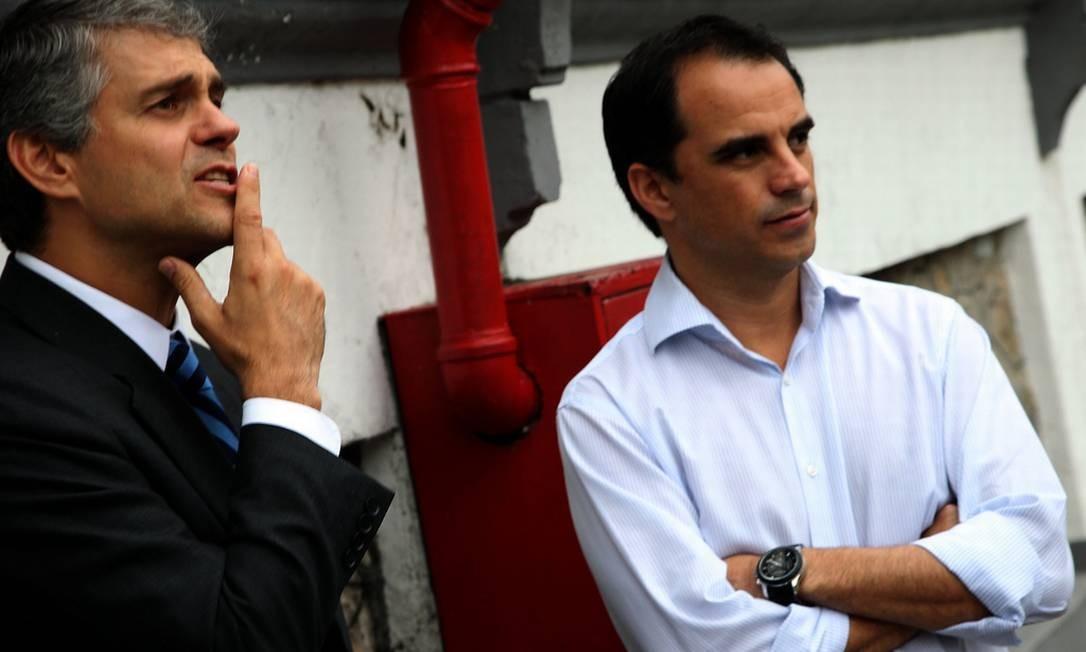 Peter Siemsen e o diretor de futebol do Flu, Rodrigo Caetano Foto: Divulgação / Fluminense