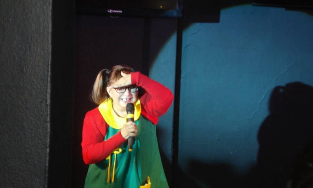 Atriz mexicana Maria Antonieta de las Nieves caracterizada como Chiquina, no evento de sexta-feira Foto: Letícia Rocha