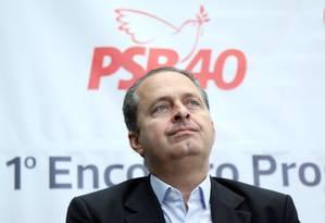 O presidenciável do PSB Eduardo Campos Foto: O Globo / Marcos Alves / 28-10-2013