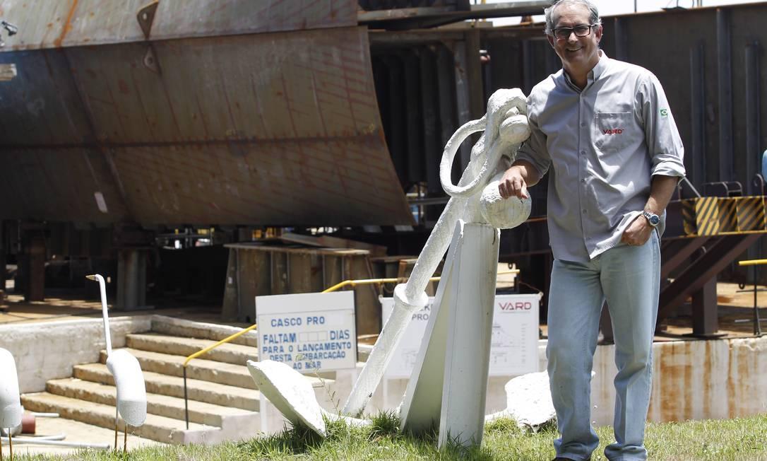 Para Miro Arantes, presidente do estaleiro Vard, que constrói dois navios de lançamento de linhas flexíveis (PLSVs) para a Petrobras, é preciso um calendário de licitações Gustavo Miranda / Agência O Globo