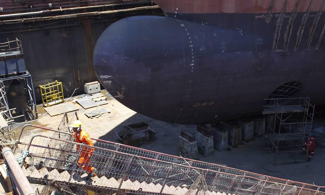 Hoje, há 103 embarcações de apoio sendo construídas no país, contra 16 no exterior Gustavo Miranda / Agência O Globo