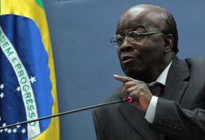 Joaquim Barbosa, presidente do STF: Foto: Givaldo Barbosa/25-06-2013