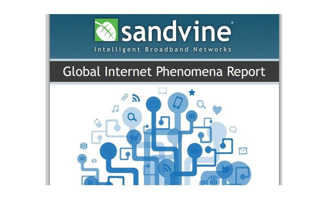 Capa do relatório da Sandvine Foto: Reprodução