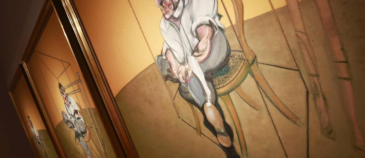 """""""Três estudos de Lucian Freud"""", de Francis Bancon, se tornou a mais cara obra de arte já vendida em leilão ao ser arrematada por US$ 142,4 milhões Foto: SHANNON STAPLETON / Reuters"""