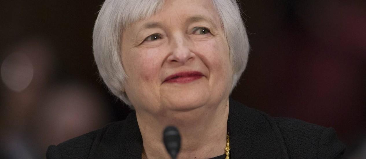 A economista Janet Yellen Foto: Andrew Harrer / Bloomberg