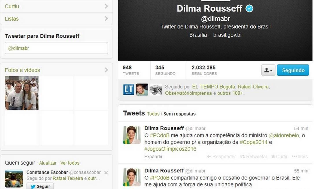 No Twitter, Dilma Rousseff elogia o PCdoB