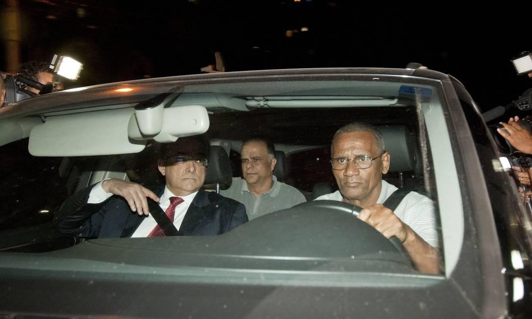 Marcos Valério chega à sede da Policia Federal em Belo Horizonte Foto: Jackson Romanelli / Jackson Romanelli /Infinito