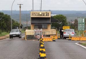 Entrada do posto de fiscalização do Complexo Penitenciário da Papuda, em Brasília, onde os réus condenados pelo escândalo do mensalão estão presos Foto: Givaldo Barbosa/ O Globo