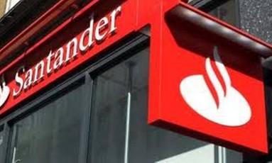 Agência do Santander Foto: Reprodução de internet