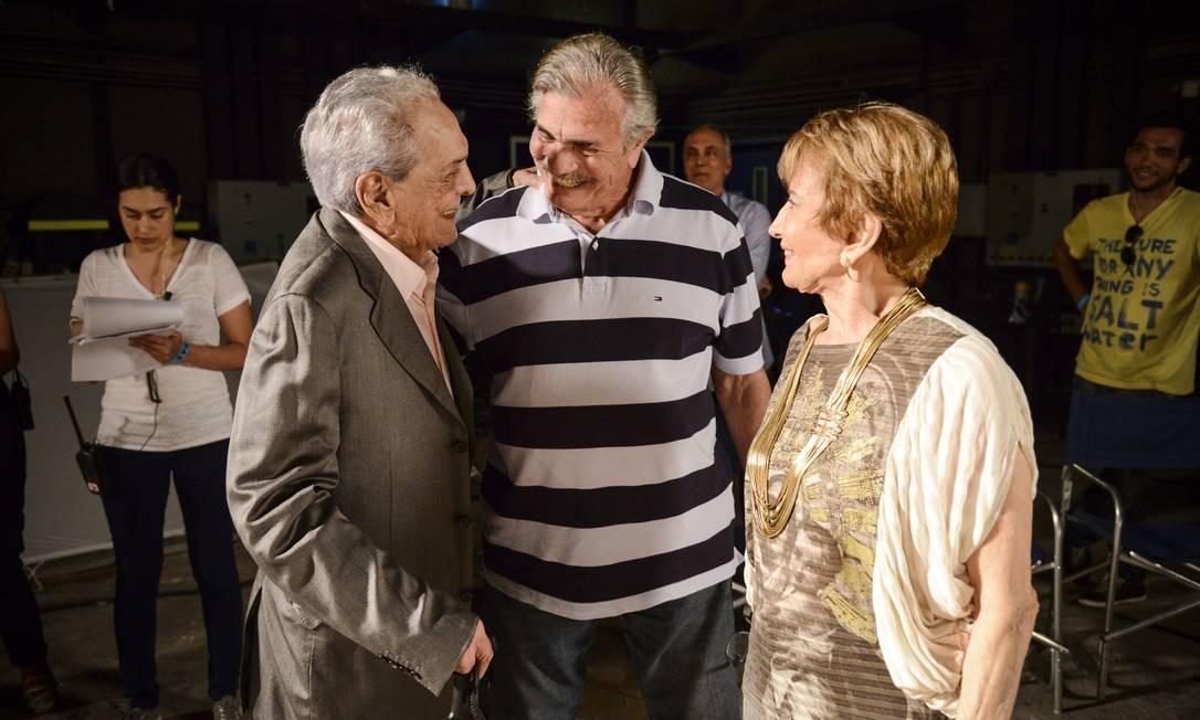 O casal 20 Tarcísio Meira e Glória Menezes gravou com Lúcio Mauro Foto: TV Globo/ Raphael Dias
