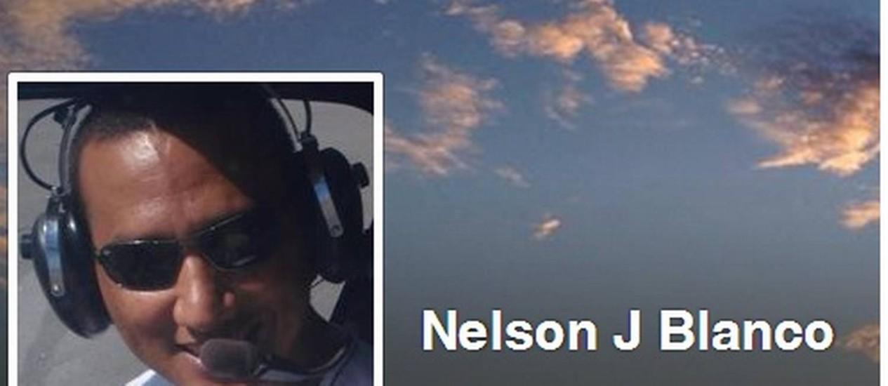 O corpo do piloto Nelson Juliani Blanco foi resgatado pelos bombeiros Foto: Reprodução/ Internet